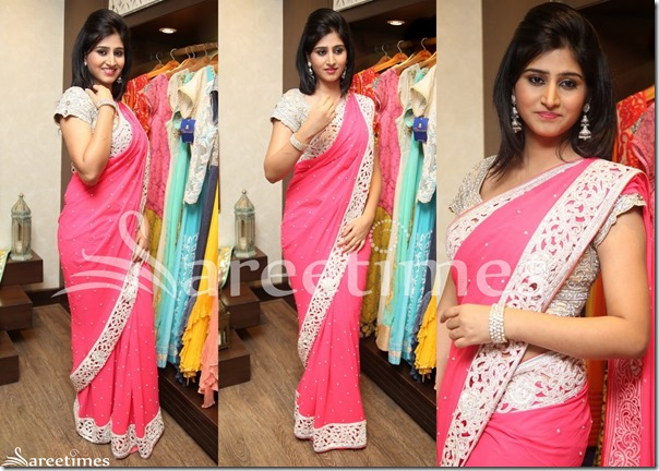 Pink_Mirror_Work_Saree