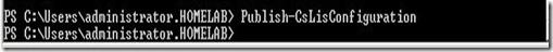 Lync Loc - publish