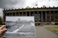The old museum, with a photo of Hitler giving an address on the steps in World War II