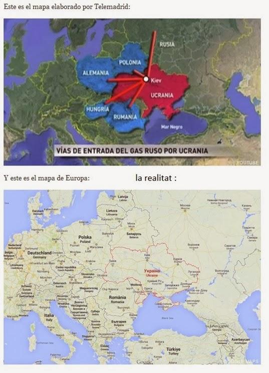 Telemadrid e la geografia europèa