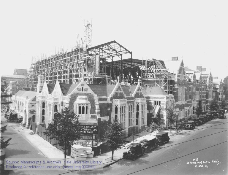 sterling law library under construction