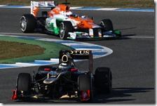 Raikkonen e Di Resta nei test di Jerez 2012