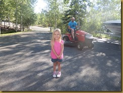 Chloe on driveway