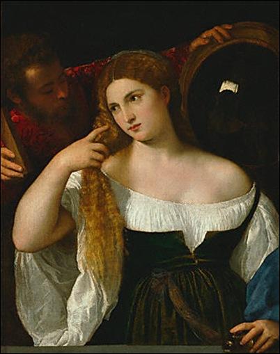 le Titien, La courtisane au miroir