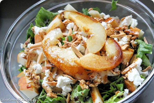 pear and goat cheese salad easy recipe