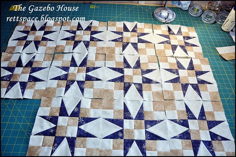 Indigo Stars quilt 013