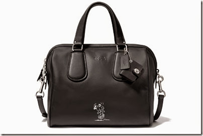 Peanuts X Coach black satchel bag