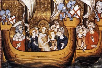 San Luis se embarca en las Cruzadas