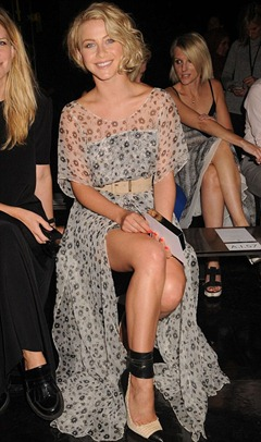 Julianne Hough Wear Sheer Maxi Dress at New York Fashion Week