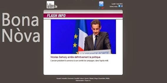 Sarkozy LaLibre diluns de las eleccions 2012