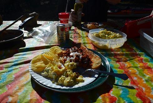 first night supper at Medicine Lake  Yum!
