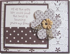 Su brown polka dot friend card