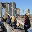 Pedestrian walkway that runs down the middle of the iconic Brooklyn Bridge
