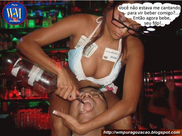 Flagrante - Vc não queria beber(int) Agora bebe, seu fdp