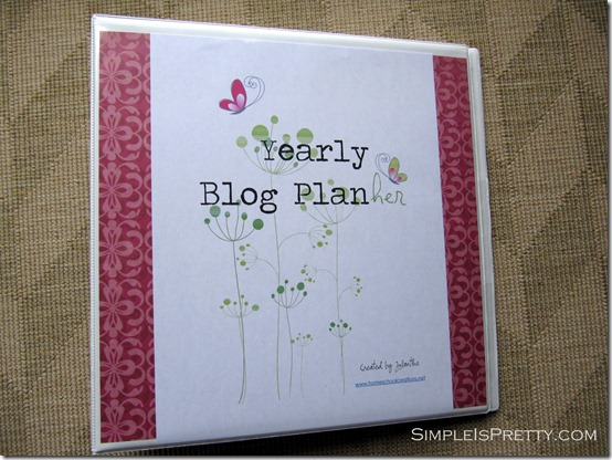 simpleispretty.com: Blog Planner Cover Page