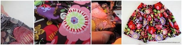How to make a drop waist twirl skirt. Free Pattern via Daydream Believers Designs