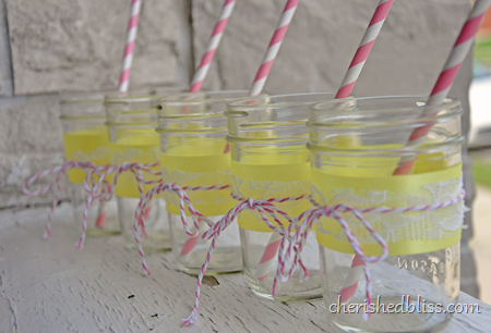 Mason Jars Pink Straws