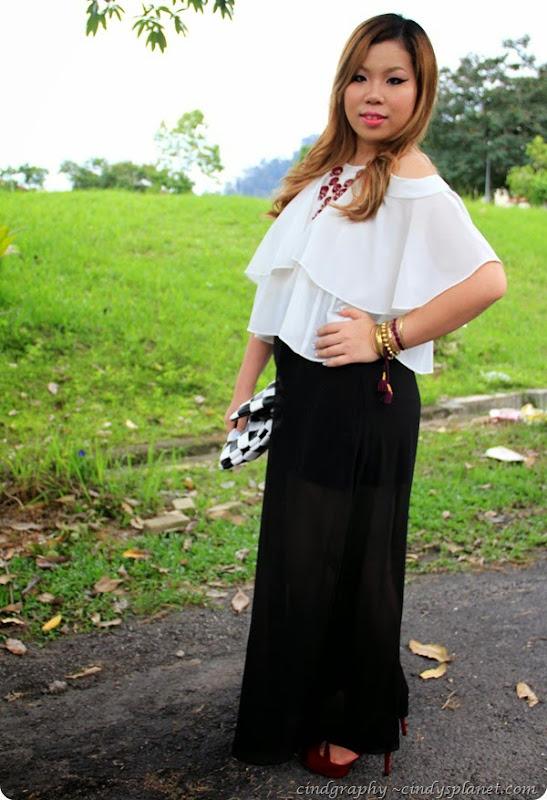 Black maxi Skirt13