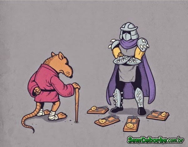 MESTRE SPLINTER VS DESTRUIDOR!