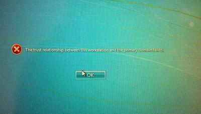 Windows7 Login Error