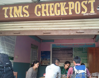 Tims Check post Nepal