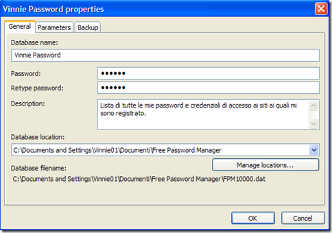 Personalizzare il database