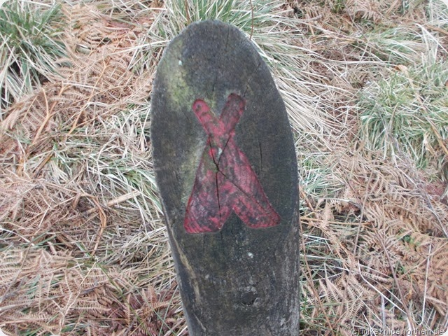 wild camping site marker