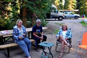 campfire at Falls Campground