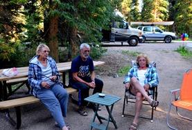 campfire at Falls Campground