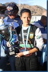 maricrus lemus con la copa de sub-campeonas apertura 2012