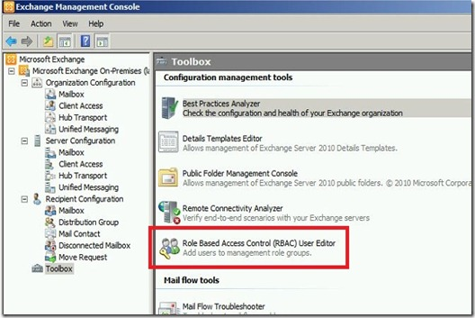 ExchUM - RBAC Toolbox - markup