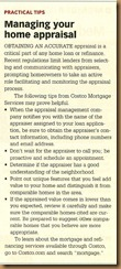 Managing Your Home Appraisal