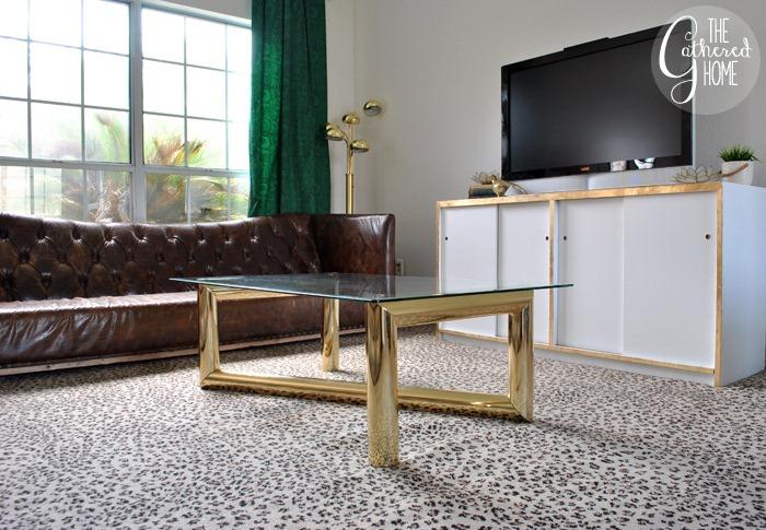 thrift score thursday brass karl springer coffee table