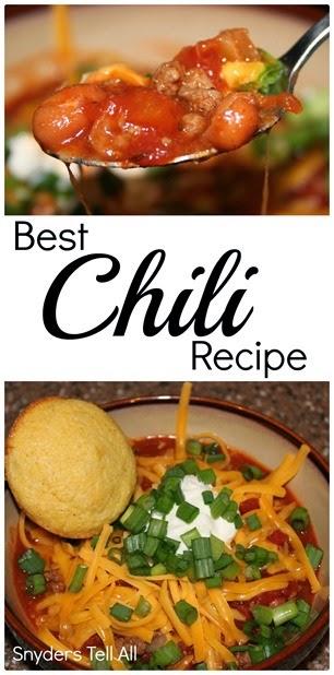 Chili Recipe collage