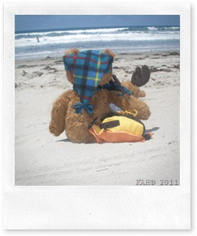 Moosey-Moose With Sleepy Bear - Saying Good Bye to the Beach