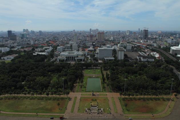 A Monas view of Jakarta skyline