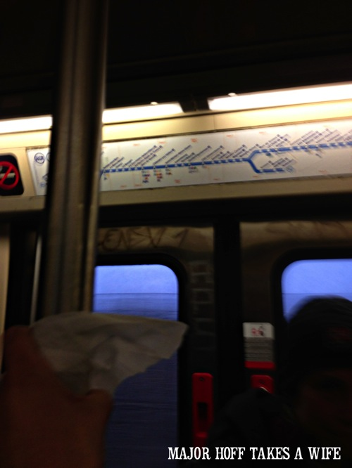 Using Purell Wipes on the Subway.jpg