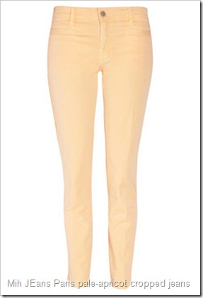 Mih JEans Paris pale-apricot cropped mid-rise straight-leg jeans