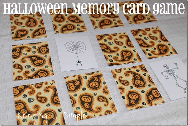 Halloween Memory Card Game