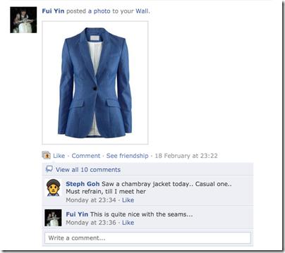 H&M chambray blazer