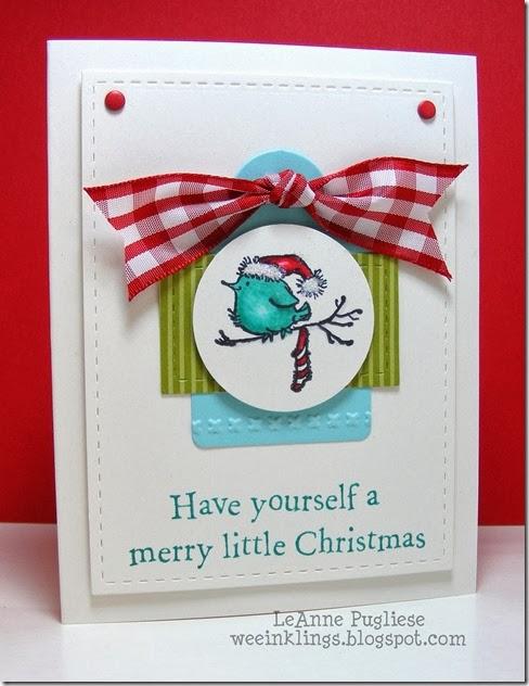 LeAnne Pugliese WeeInklings ColourQ 218 Penny Black Christmas