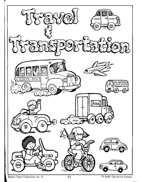 Increíble Transporte Terrestre Para Colorear Cresta - Ideas Para ...