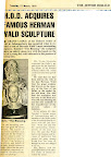 H.O.D acquires famous Herman Wald sculpture