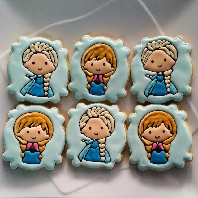 anna & elsa cookies