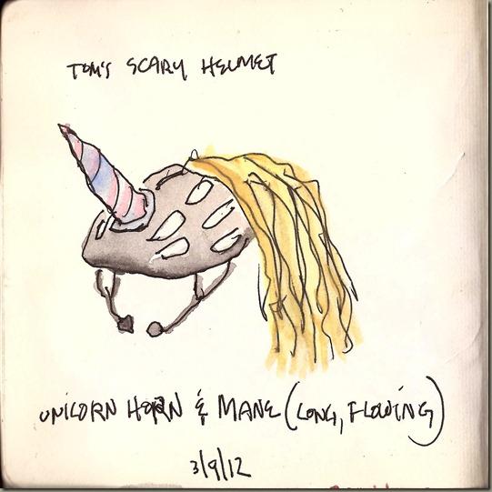 Tom's Scary Helmet_Unicorn painted