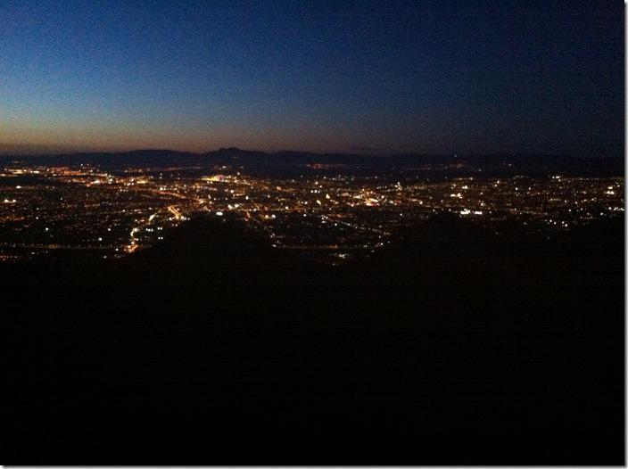 Murcia LaNuit desde la montaña