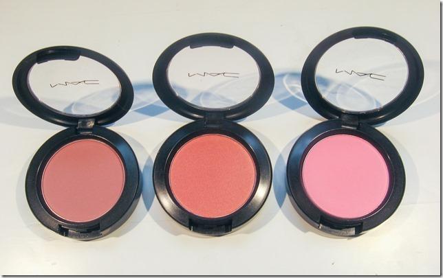 Mac Mocha, Springsheen, Pink Swoon blushes
