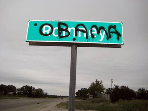 Texas-Town-Get's-'Romney'-Road-Sign-Painted-Over-With-'Obama'