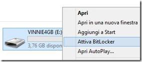 Attiva BitLocker