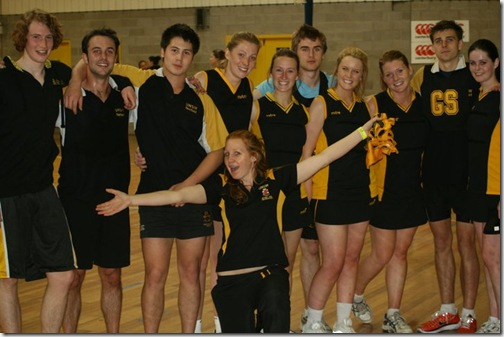UNSW netball team uni games 2011